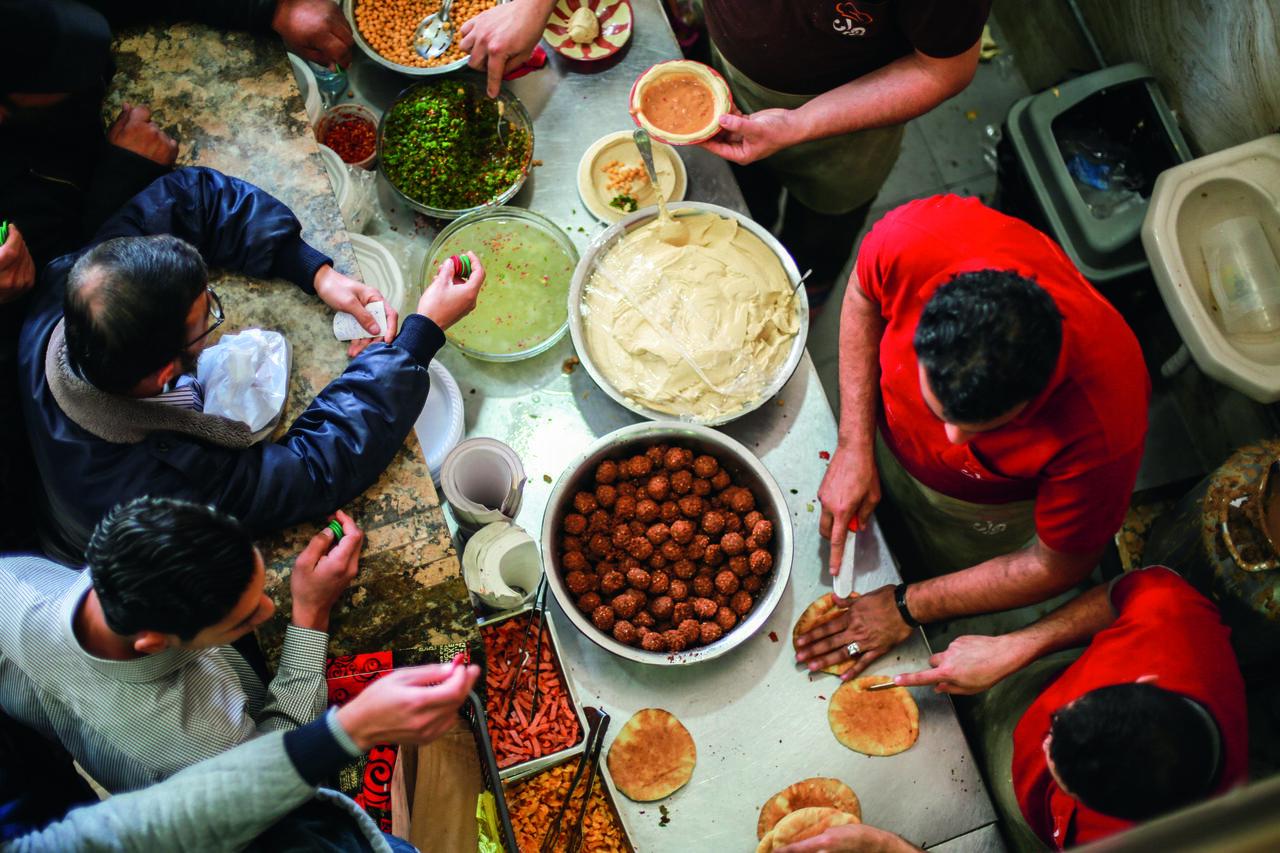 A falafel stand in Gaza.