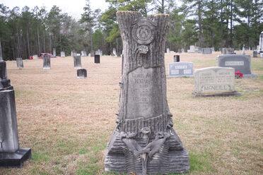 Woodmen of the World stone in Harnett County, North Carolina.
