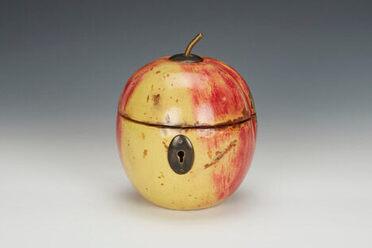 Mark Bramble's peach tea caddy.