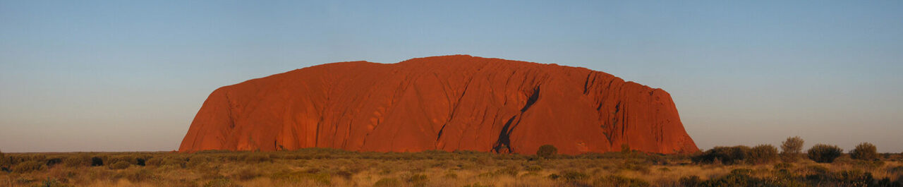 Uluru at dusk.