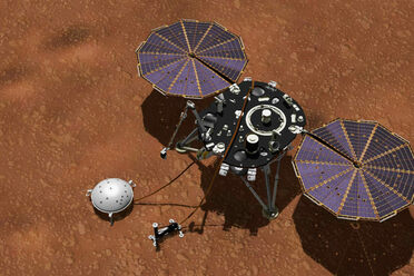 InSight at work on the Martian surface.