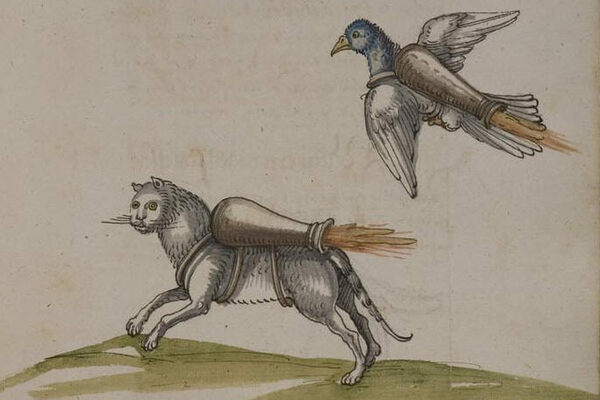 Why are these animals in  a 16th century manuscript wearing jet packs? That's the mysteryMitch Fraas, Scholar in Residence at the Universi