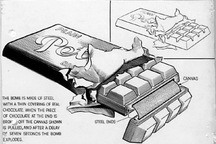 FOUND: Original Drawings of a Nazi Chocolate Bomb and Other Booby-Trapped Devices