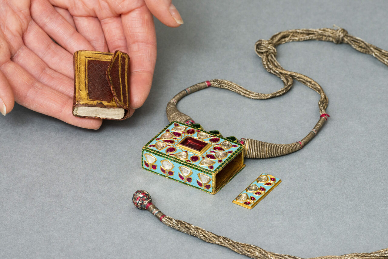 This Quran is small enough to fit inside a locket, and in your palm.