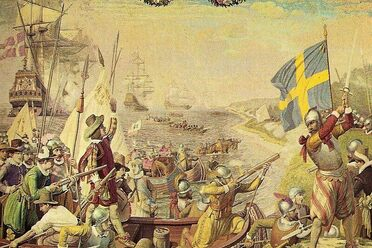 Denmark and Sweden heading into battle during the Kalmar War.