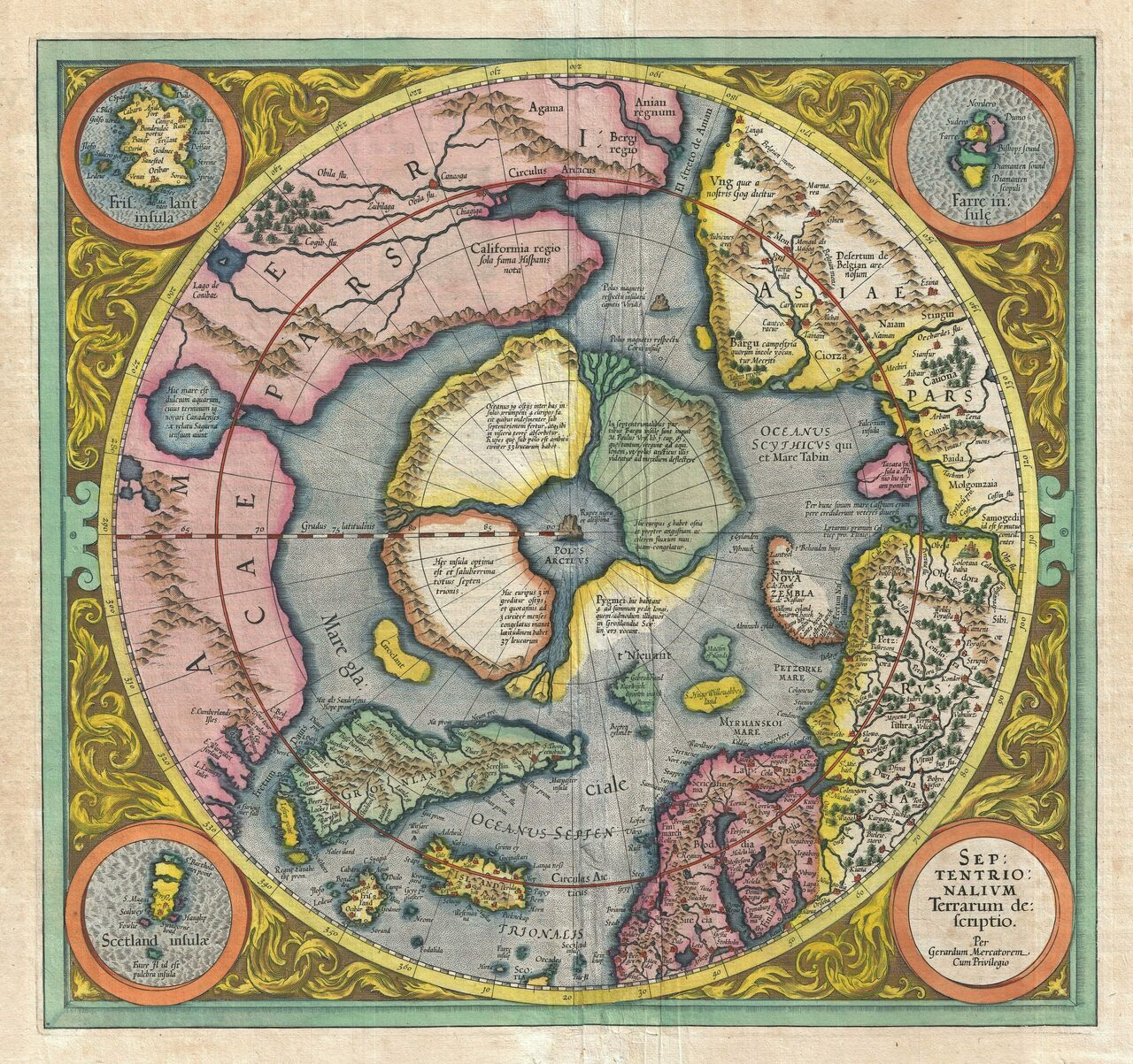 The Mysteries of the FirstEver Map of the North Pole  Atlas Obscura
