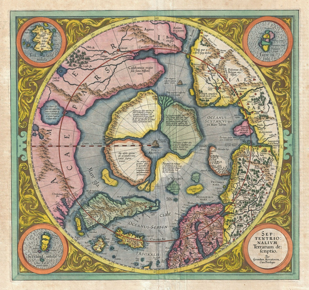 The second draft of the Septentrionalium Terrarum, released in 1606.