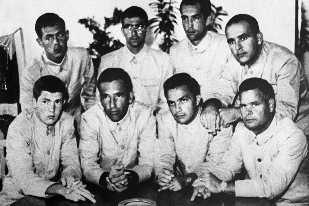 The captured crew of the U.S.S. Pueblo.