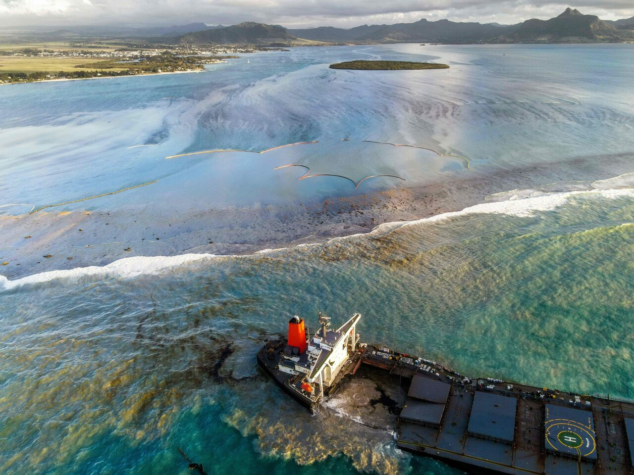 The vessel MV Wakashio ran aground off the southeast coast of Mauritius in July 2020, leaking oil that fouled waters known internationally for their biodiversity.