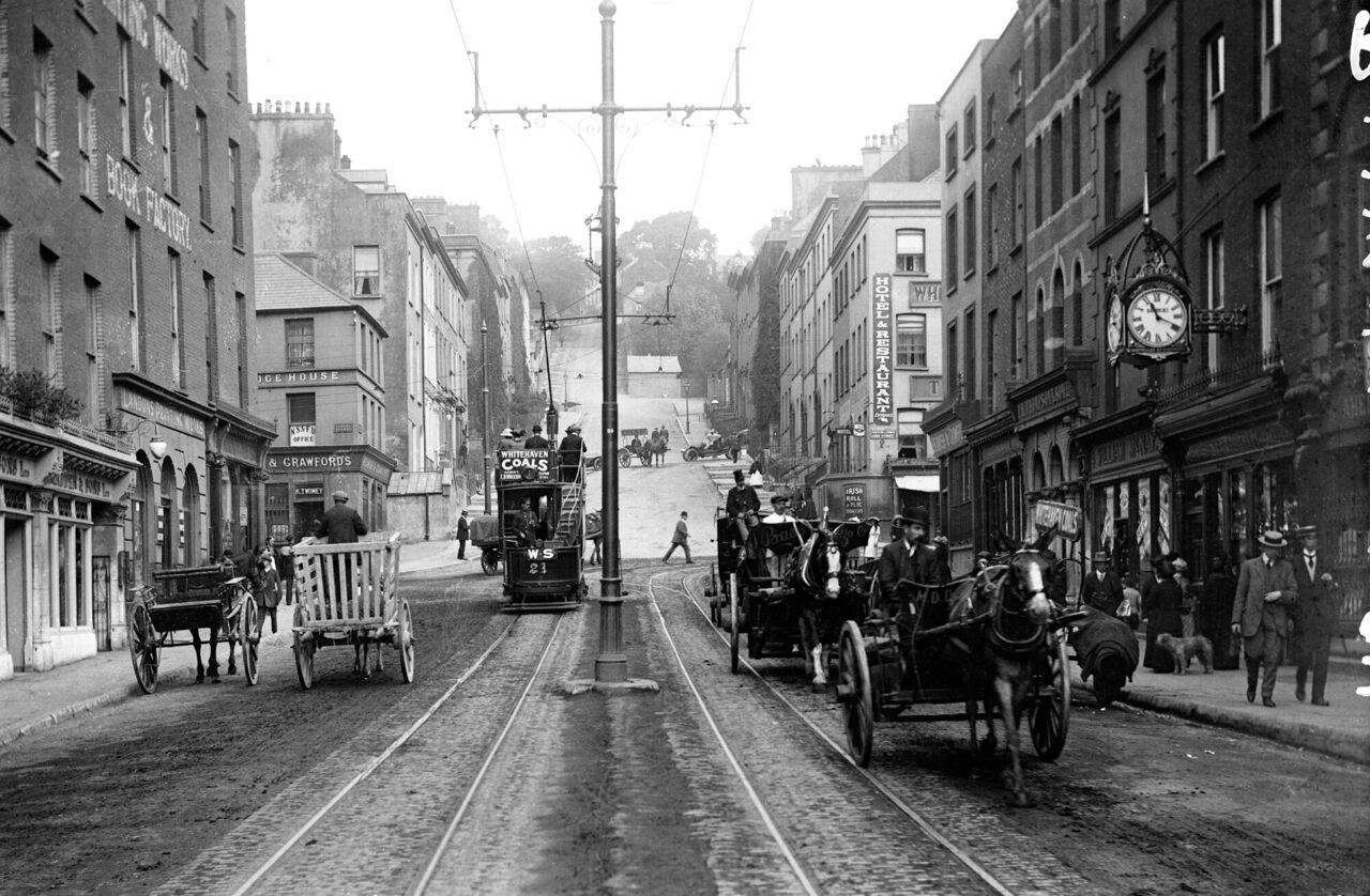 St. Patrick's Hill, Cork City, Ireland, c. 1900.