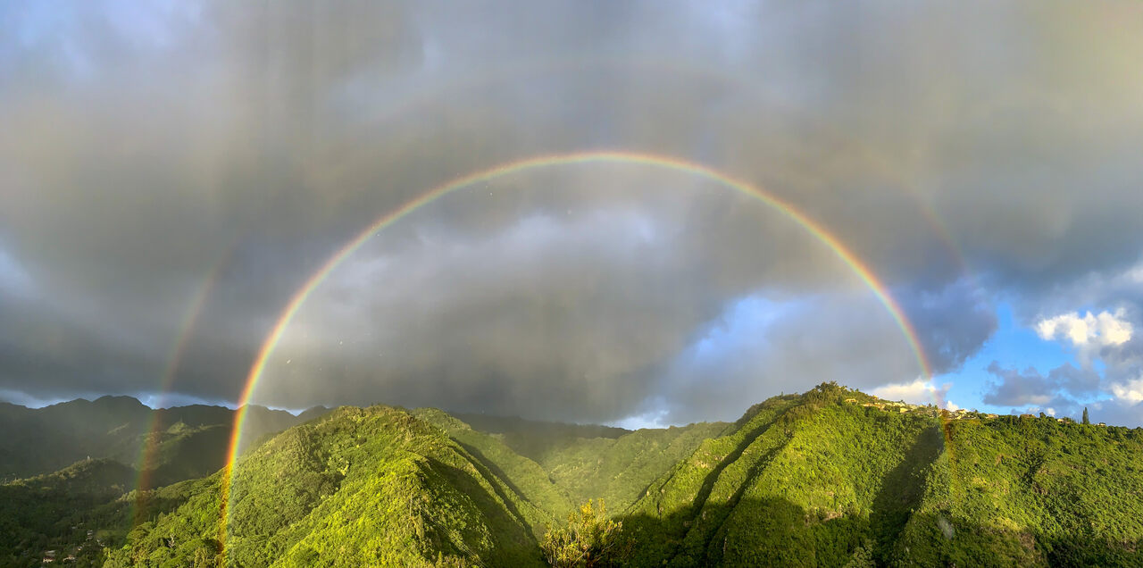 Hawaiʻi has excellent conditions for frequent, intense, long-lasting rainbows.