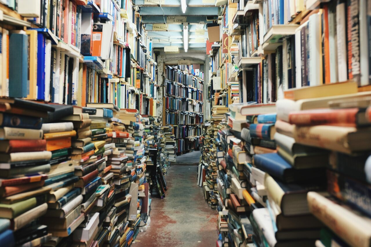 The role comes with Lynne Olver's personal collections of more than 2,300 books (not pictured).