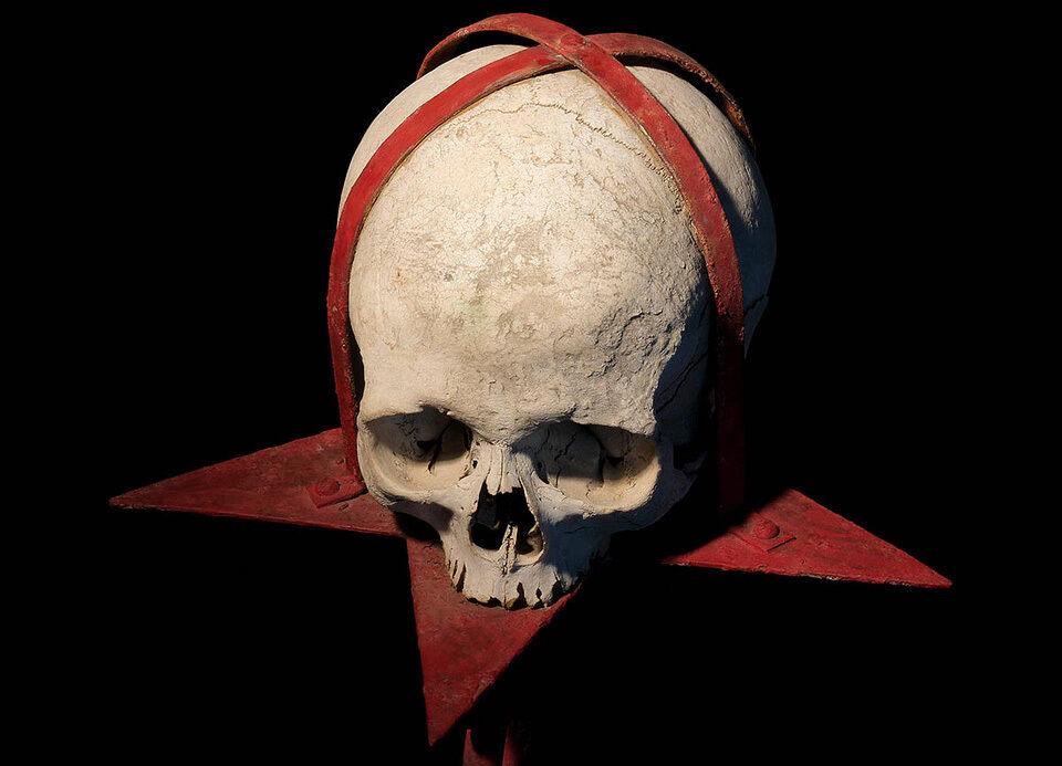 A skull used for ritual magic.