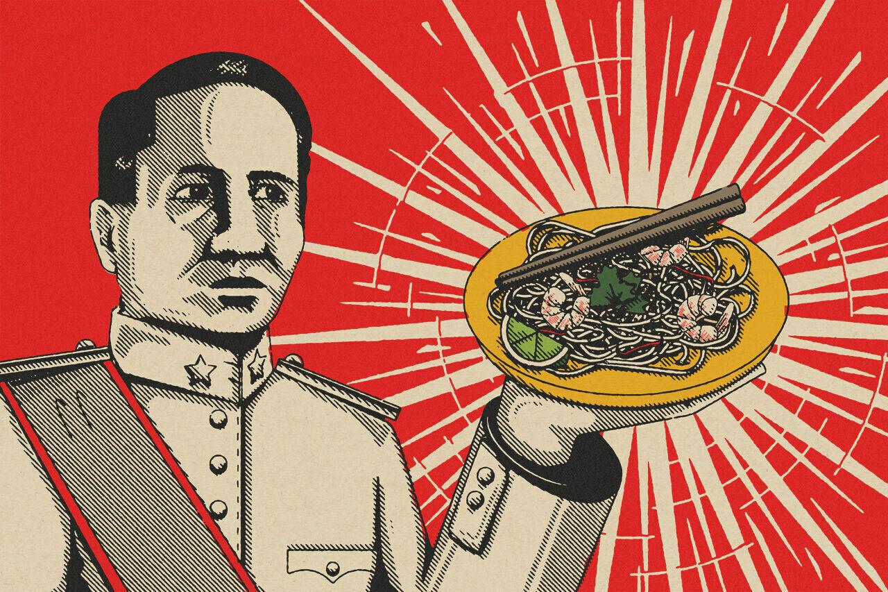 Prime Minister Plaek Phibunsongkhram and his signature dish: pad Thai.