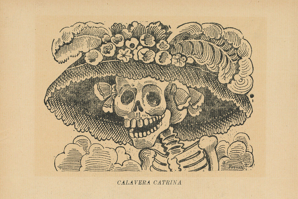 This image, now known as <em>La Calavera Catrina,</em> is one of José Guadalupe Posada's most iconic calaveras.