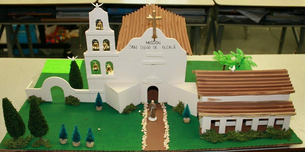 Mission San Diego de Alcala, built from a kit.