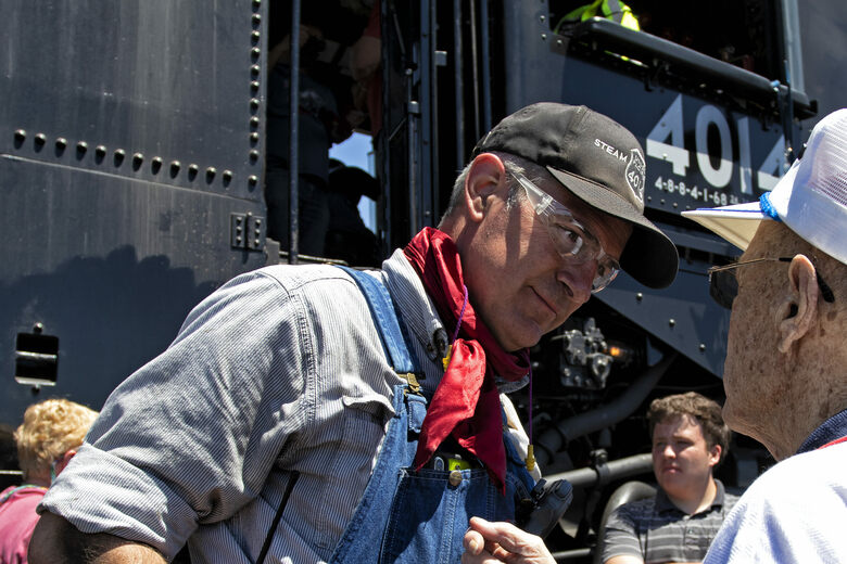 Meet the Man at the Controls of the World's Largest Steam Locomotive