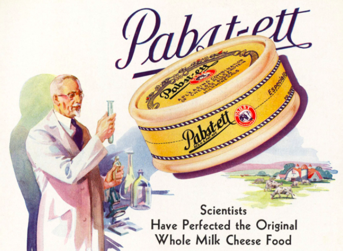 An image from the 1931 cookbook <em>Recipes The Modern Pabst-ett Way</em>.