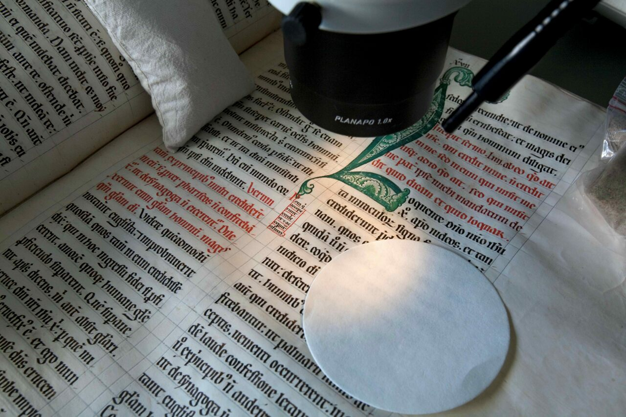 Medieval manuscripts were illuminated with folium, and one bore the instructions for recreating the ink.