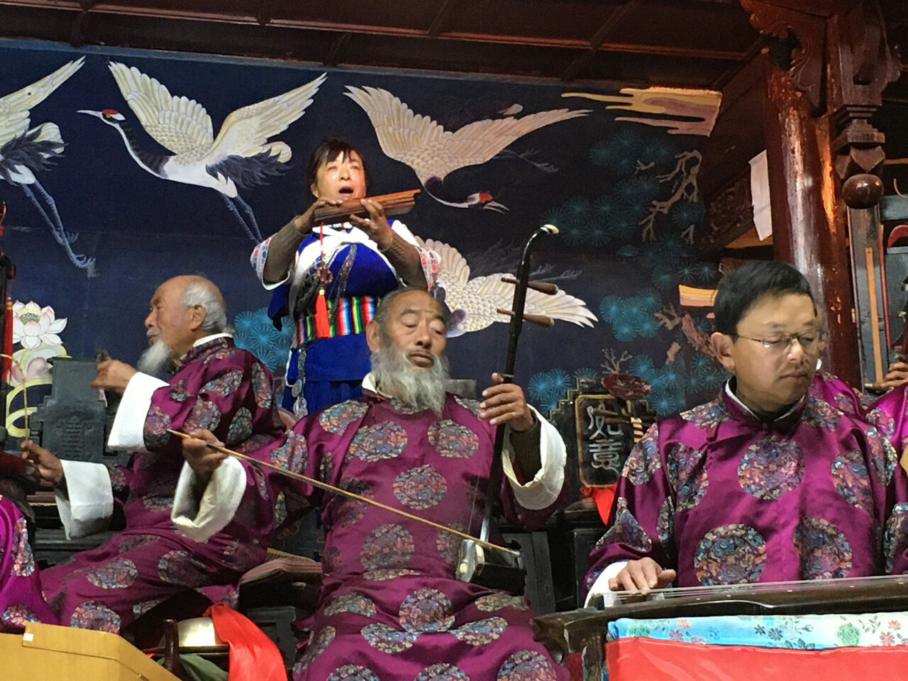 These Naxi musicians play without sheet music on centuries-old instruments, which were once hidden underground during the Cultural Revolution.