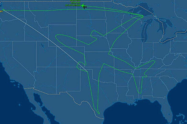 No One Seems To Know Why This Plane Kept Circling Denver Atlas - Denver Circled On Us Map