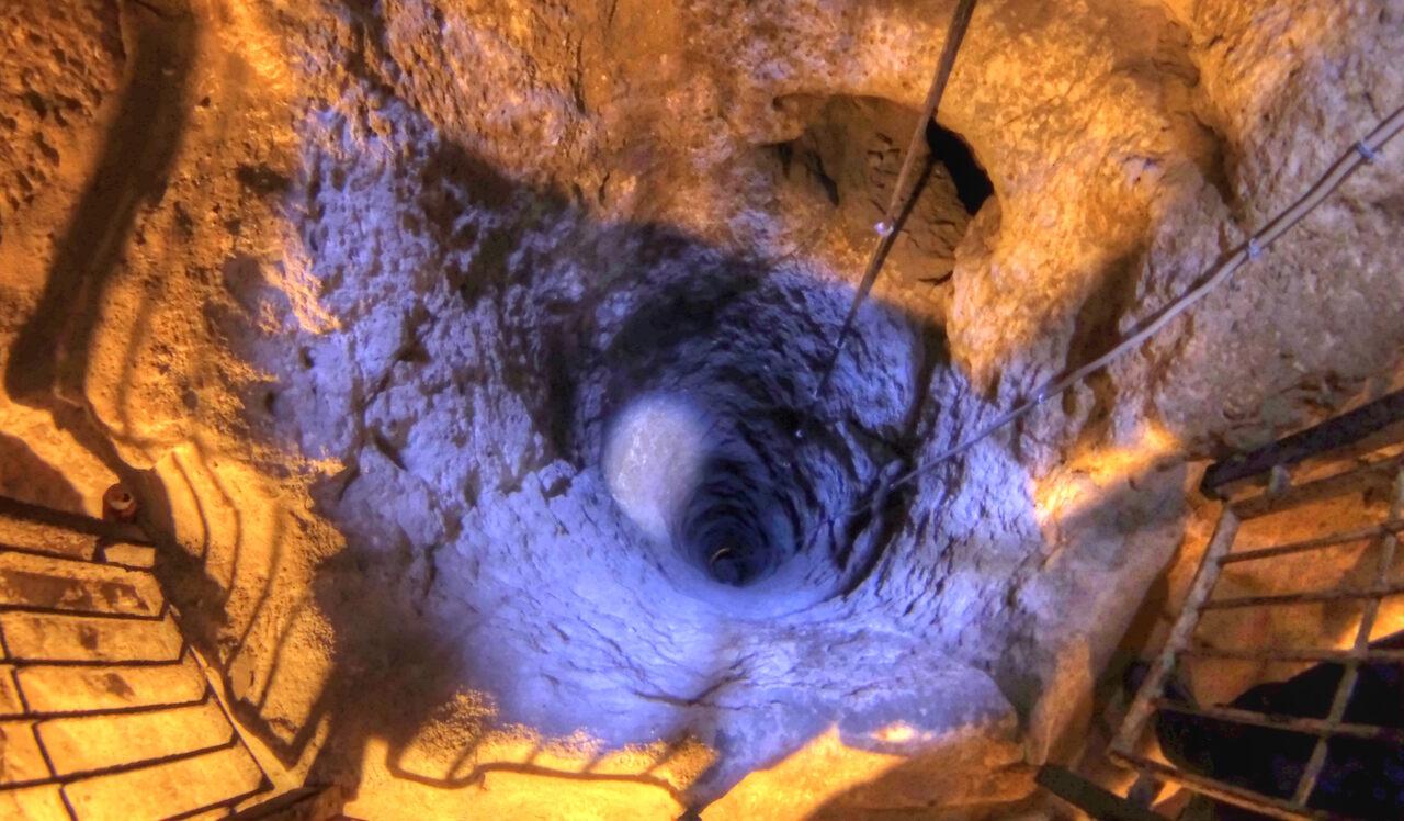 Derinkuyu Underground City in Cappadocia, Turkey.