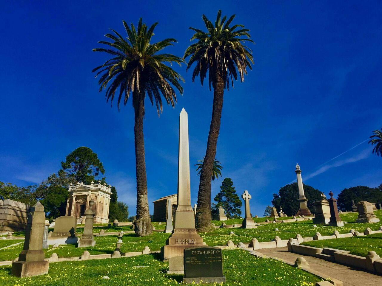 Clara Loeper's remains were buried at—and stolen from—Mountain View Cemetery in Oakland, California.