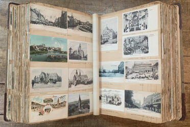 Some postcards featured sights from long ago.