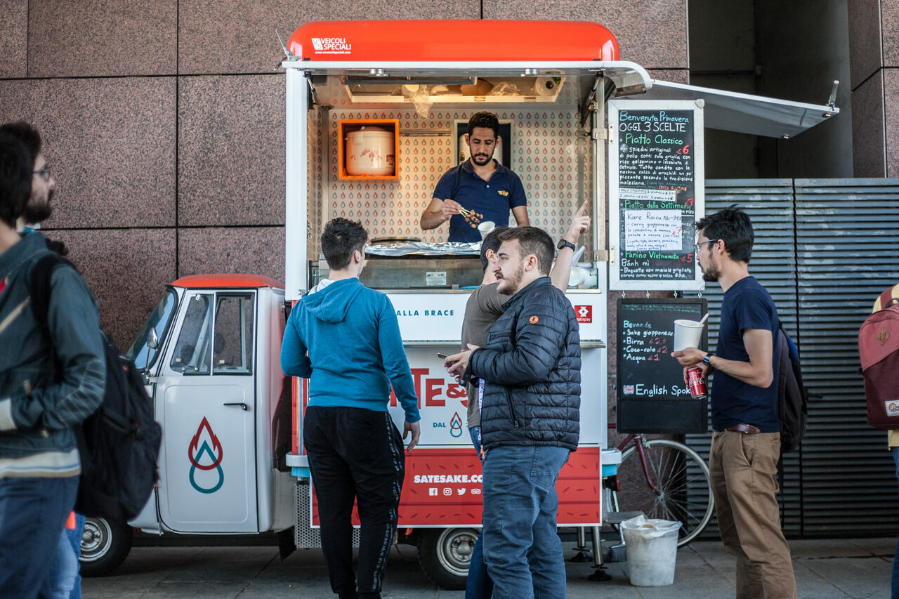 Sate & Sake, opened two years ago, is quite likely the only Malaysian food truck in Italy.