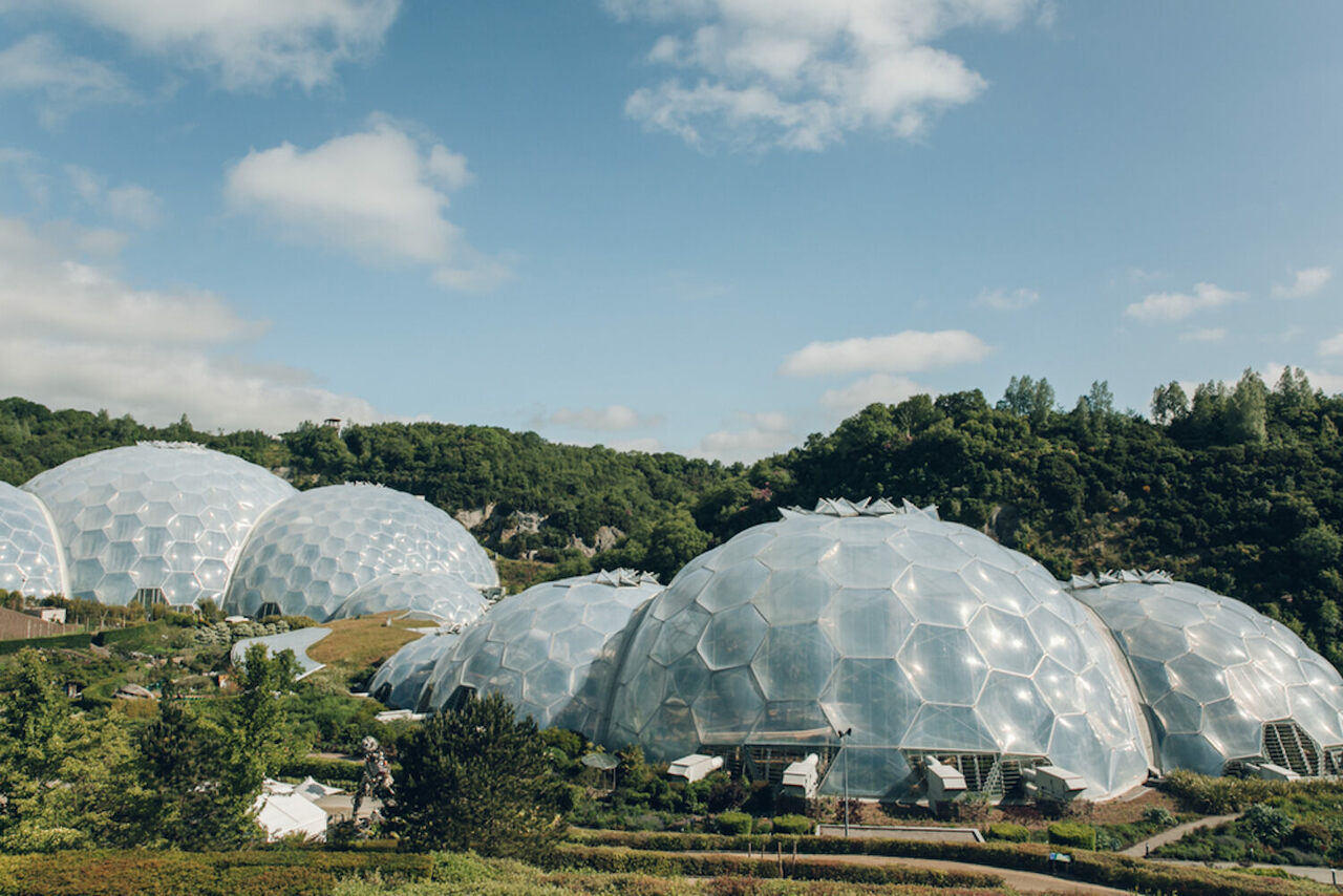 The Eden Project, Rainforest Biome, Saint Austell, England.