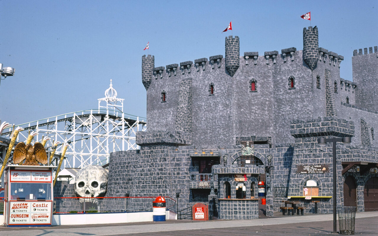 Dracula's Castle, on an amusement pier in Wildwood, New Jersey.