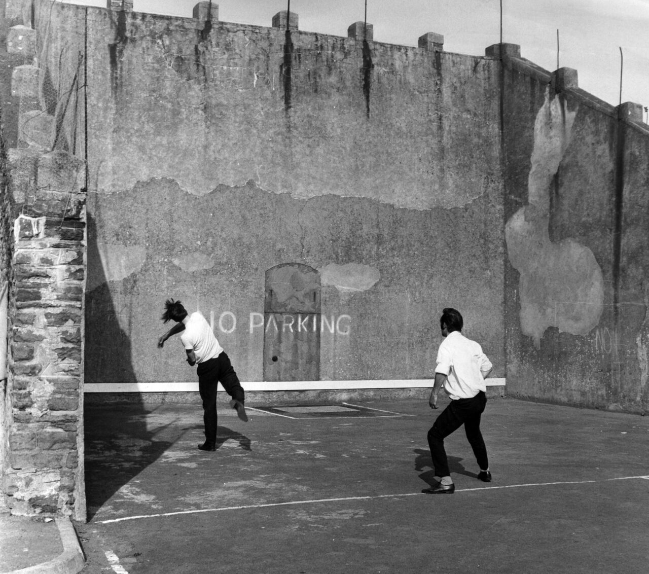 The handball court in Nelson, South Wales, August 8, 1969. The three-walled court and home to Pêl-Law, the Welsh version of the game, has stood in the town since 1860.