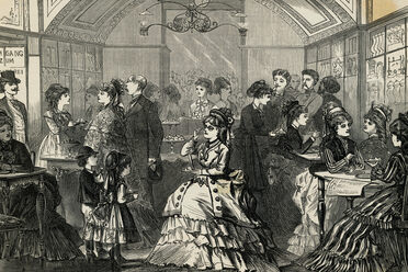 Fashionable parlors welcomed ladies for ice cream and more.