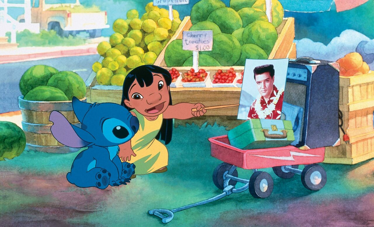Lilo gives Stitch an essential Hawaiian history lesson.