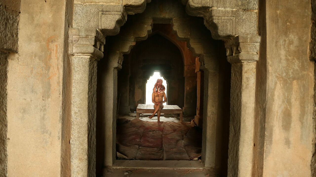Artists like Ajay Sharma—seen here shooting a video—are flocking to the 14th-century monument.