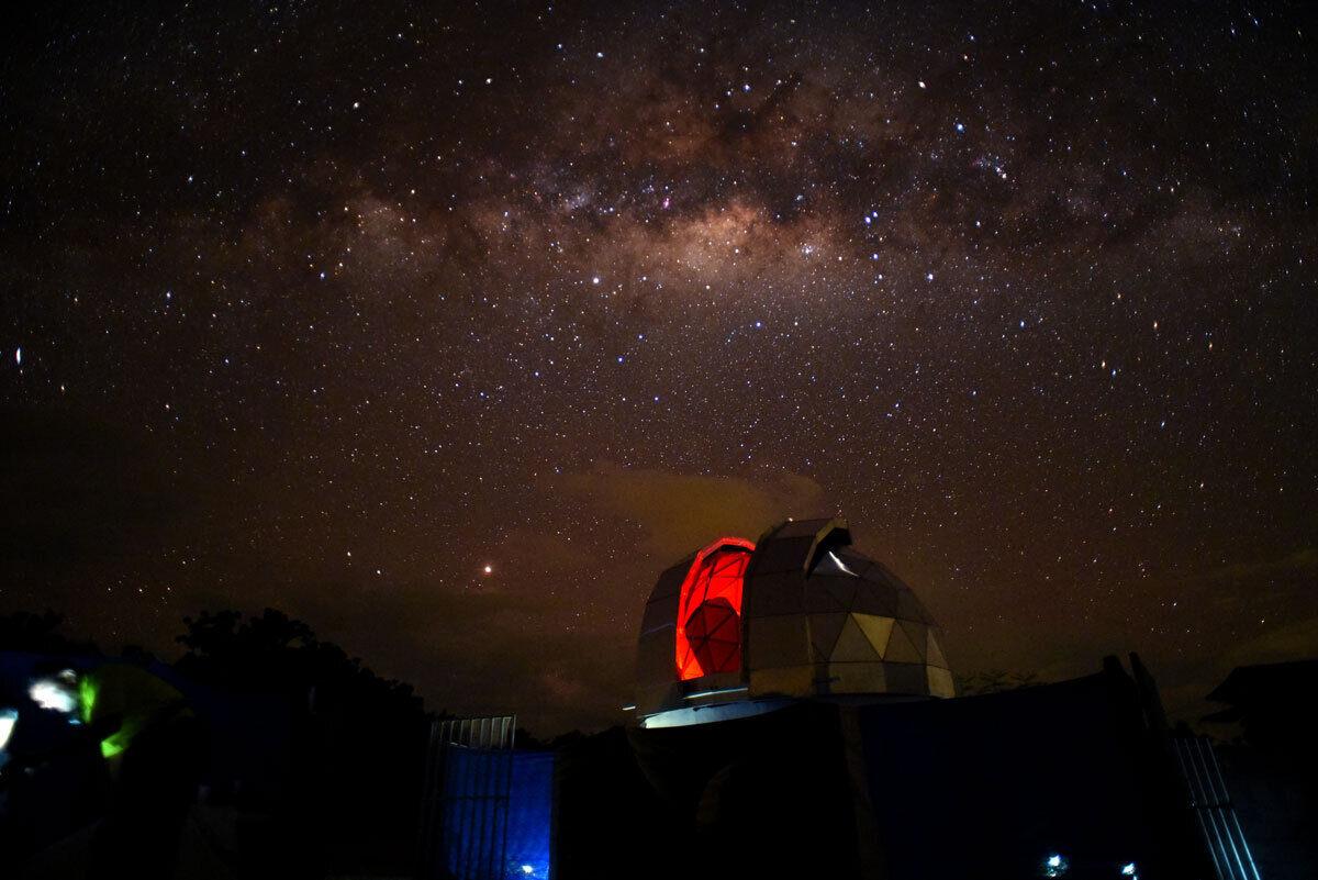 The observatory in the Tatacoa Desert.