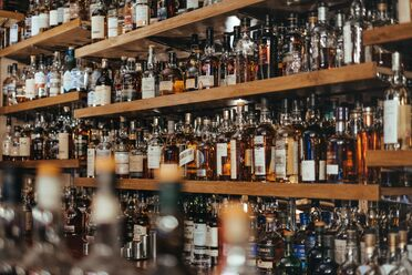 Scotland's Glenesk Hotel, which boasts many a whiskey variety.