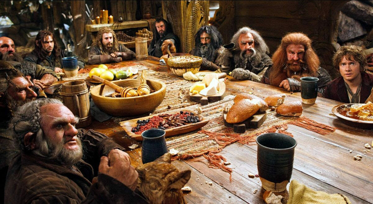 J.R.R. Tolkien wrote a lot about food, and that made its way onscreen as well as to Denny's.