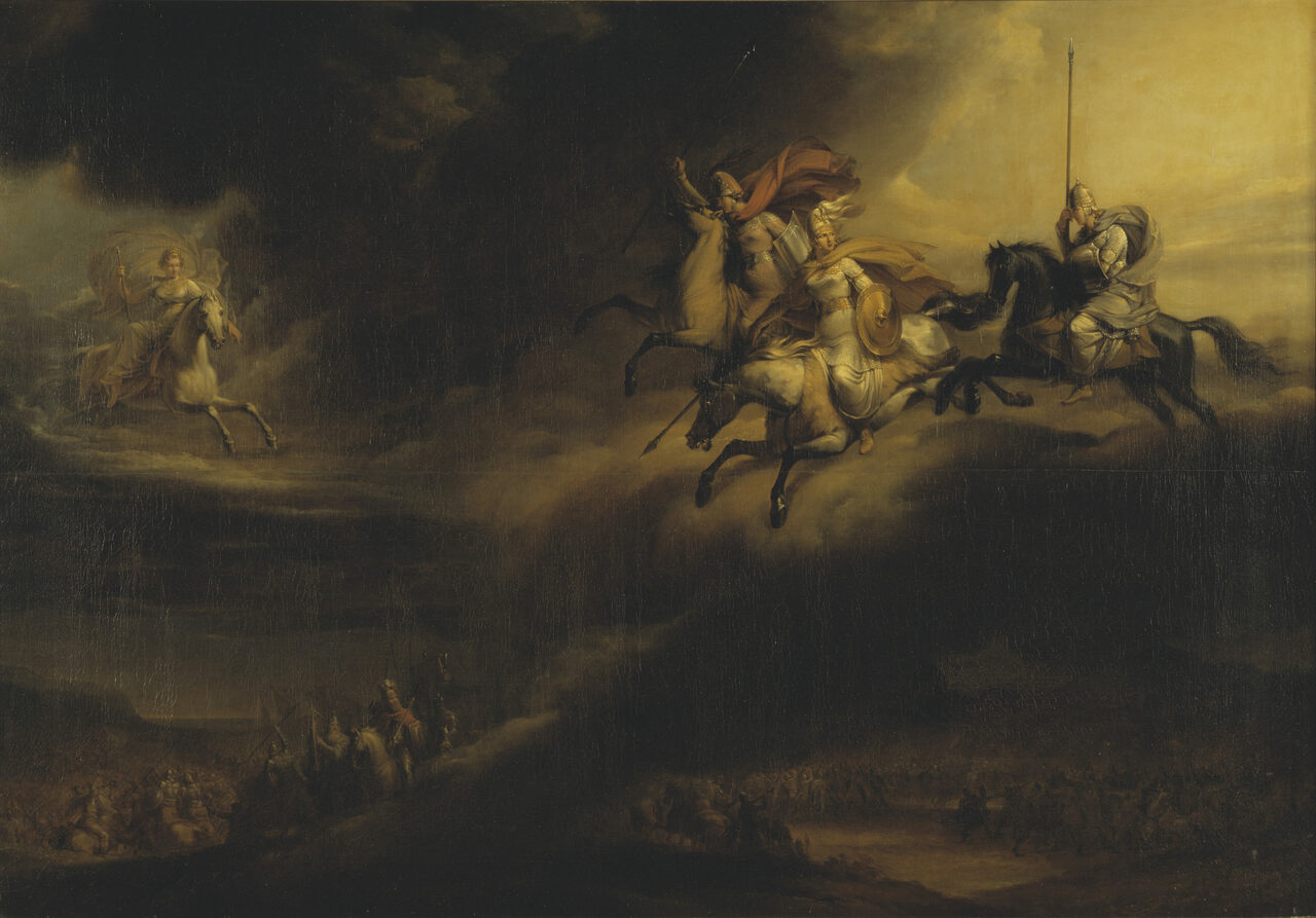 The National Museum of Stockholm's <em>Ride of the Valkyries</em> was painted during the Victorian period, which saw renewed interest in Vikings.