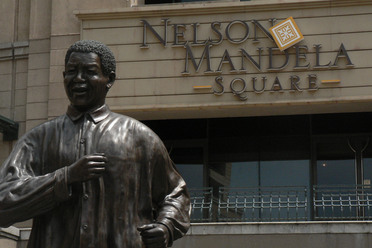 """Nelson Mandela Square,"" a shopping mall in Johannesburg."