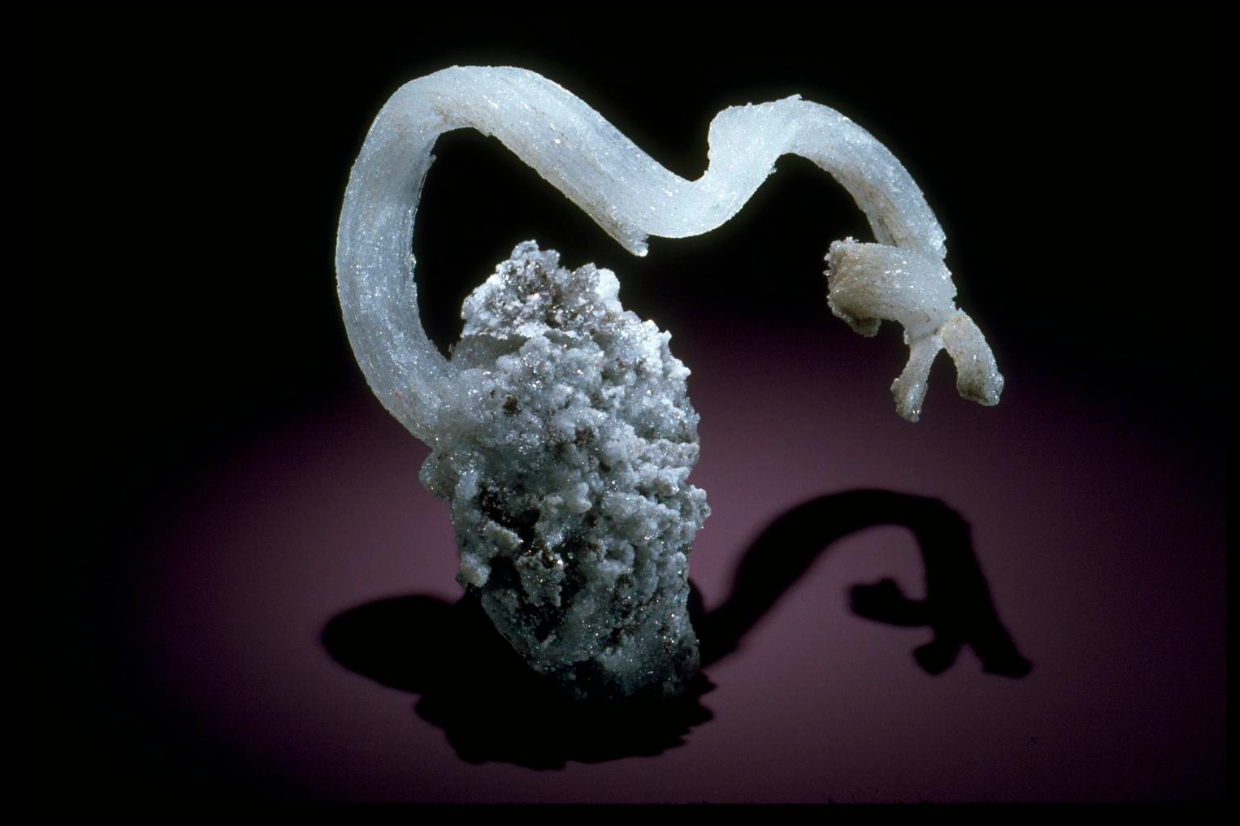 It's a snake! No—it's gypsum.