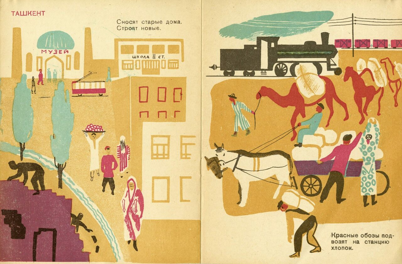 From Moscow to Bukhara borrowed from the avant-garde but showed daily life.