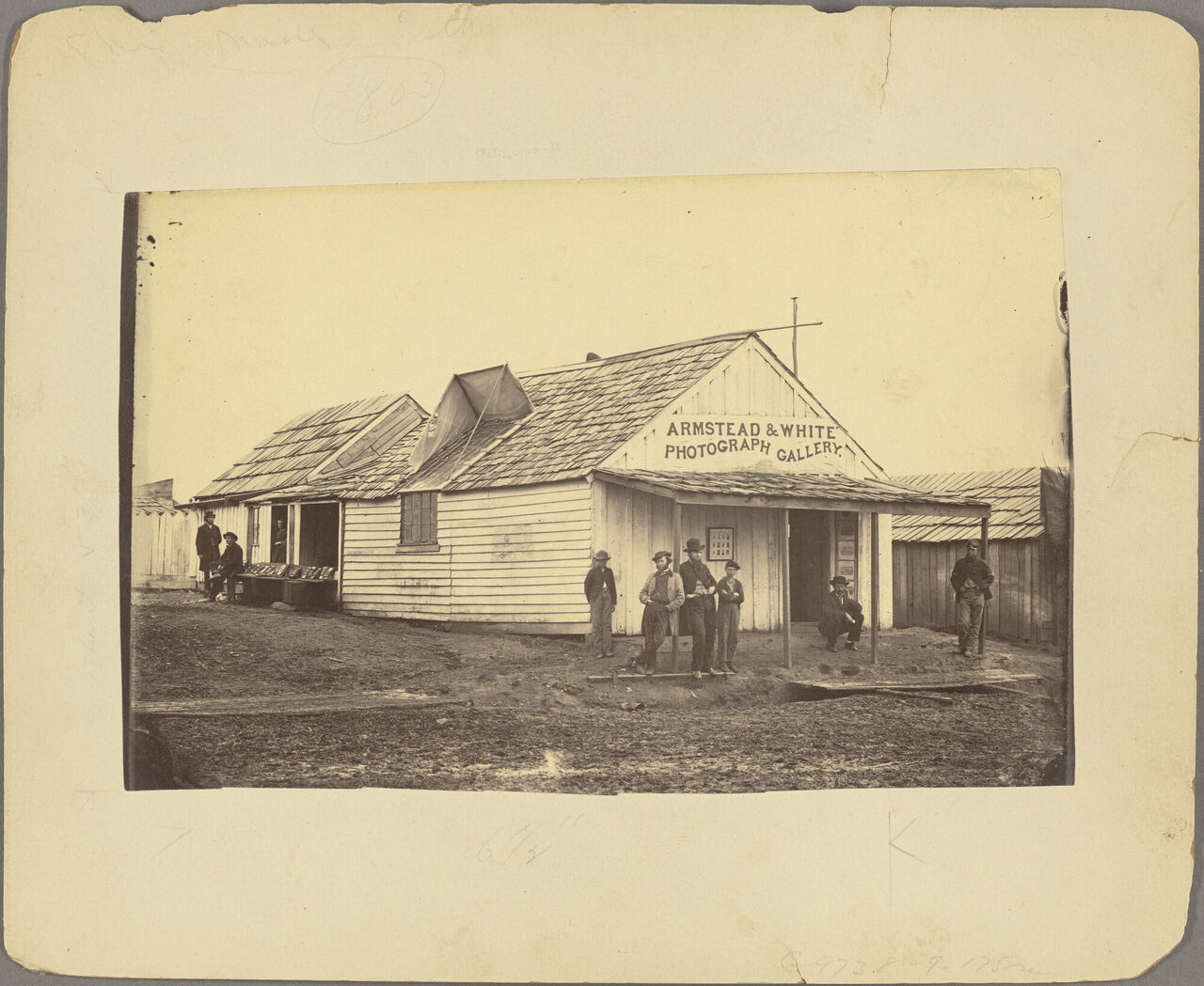 <em>Armstead & White Photograph Gallery</em>, Armstead & White, c. 1861-1865.