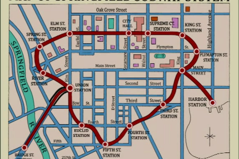 Everything We Know About Springfield, Mapped - Atlas Obscura on
