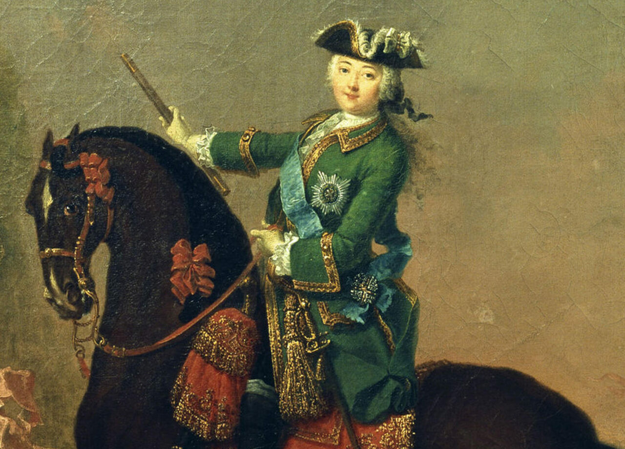 Russian Empress Elizabeth used cross-dressing to cement her power. She's shown here in a traditionally male guard uniform.