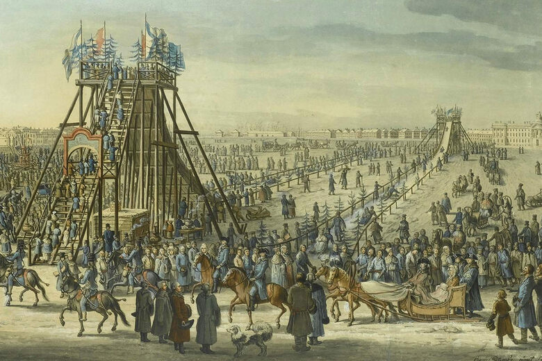 Way Before Roller Coasters, Russians Zipped Down Enormous Ice Slides