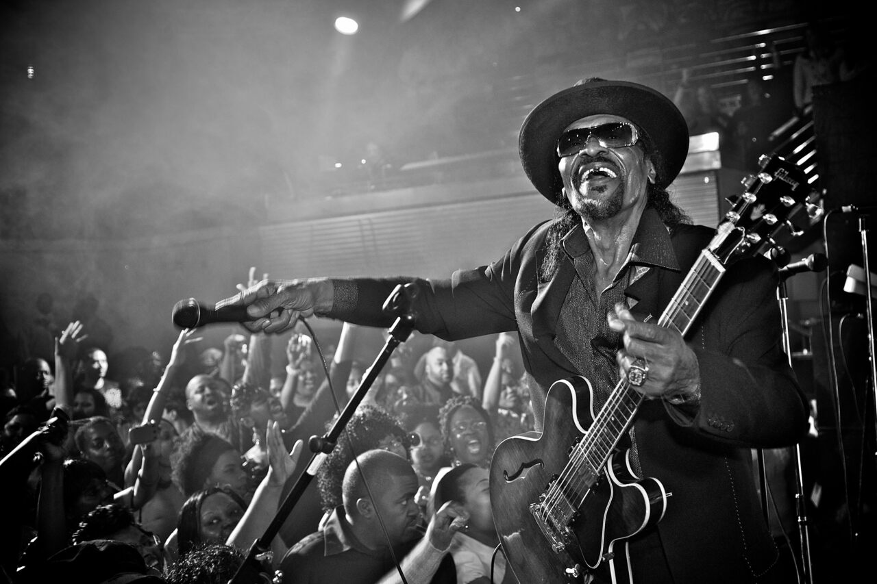 Go-go legend Chuck Brown performs with the Chuck Brown Band in 2011 at Ibiza, a now-shuttered D.C. nightclub.