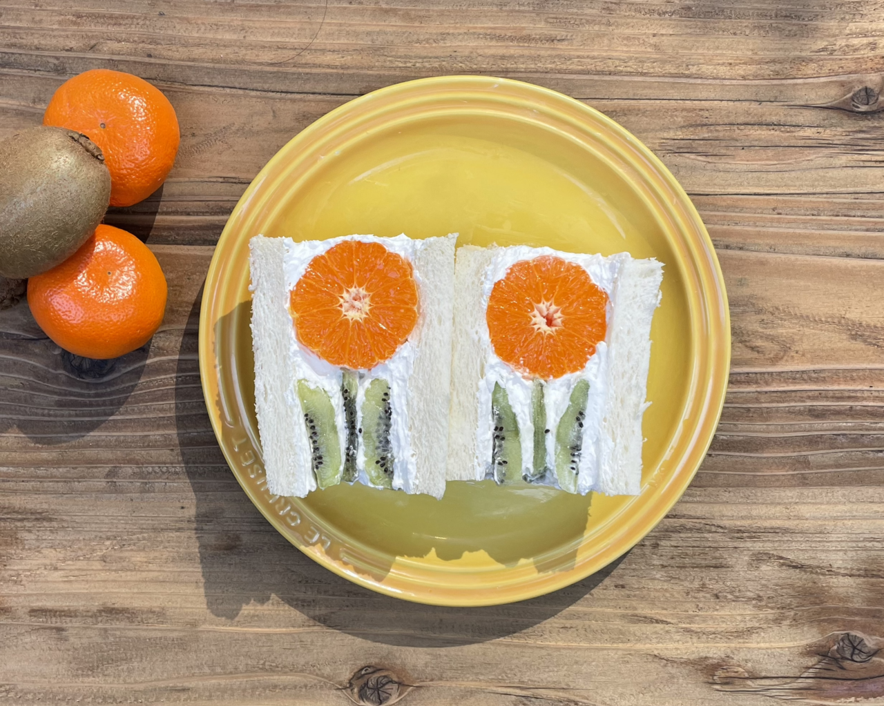 This fruit-filled sandwich hides a pretty flower inside.