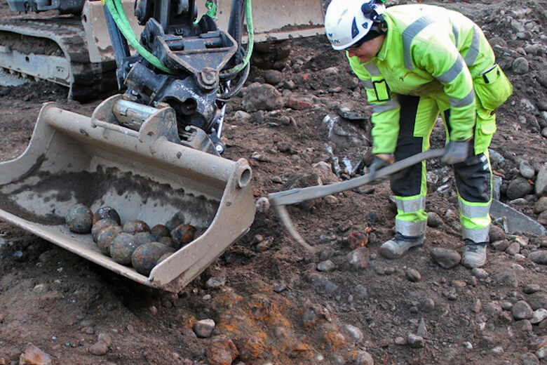 Found: A Slew of Cannonballs Below a Stockholm Street