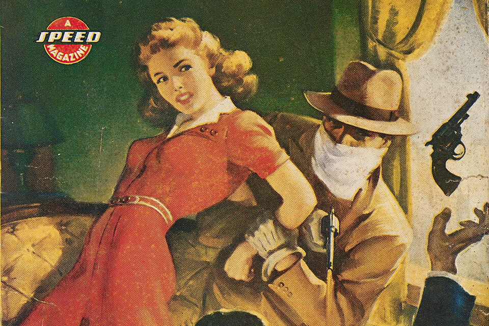 <em>Private Detective</em> cover illustration, January 1946.